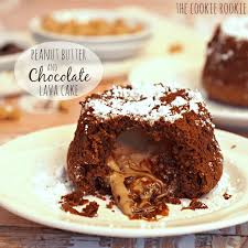 chocolate peanut butter lava cake the cookie rookie