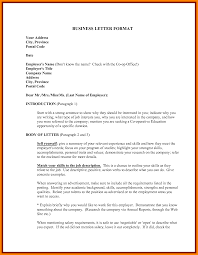 Example Of Formal Business Letter by 5 Format Of Formal Letter Pdf Sephora Resume