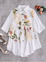 oversized blouse layered floral oversized blouse white blouses xl zaful