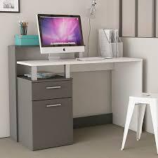 bureau blanc et gris bureau multimédia blanc et gris 1 porte et 1 tiroir oracle dya