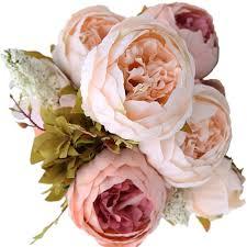artificial wedding party decor bridal bouquet peony silk flowers