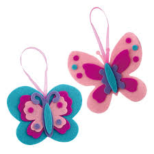 make your own felt butterfly ornaments kit creative kidstuff