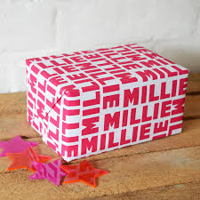 personalized gift wrapping paper personalised monogram gift boxes by seahorse notonthehighstreetcom