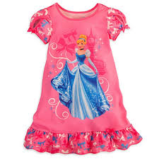 disney cinderella pink blue bow nightshirt nightgown