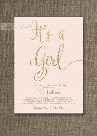 pink and gold baby shower invitations blush pink gold baby shower invitation it s a girl