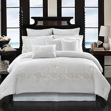 King Comforter Sets Bed Bath And Beyond Tommy Bahama Heirloom Embroidery Comforter Set In Coconut Bed
