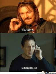 Liam Neeson Memes - liam neeson challenge accepted by slash hayate meme center