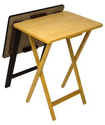 folding oversized wood tray table in espresso andover mills ivana folding tv tray table set reviews wayfair