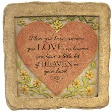 garden plaques memorial garden plaques heaven in our heart plaque