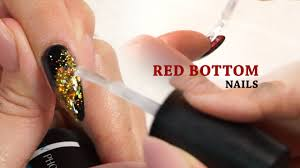 red bottom nails tutorial with ann chang youtube