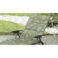 folding padded sling chaise lounger green outdoor lounge chair