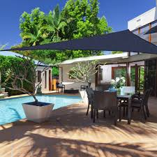 outsunny 16 4 u0027 triangle outdoor patio sun shade sail canopy uv top