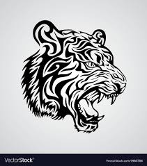 tiger tribal design royalty free vector image vectorstock