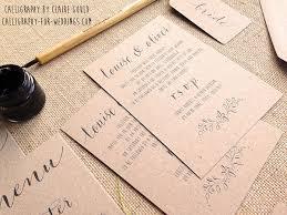 Calligraphy Wedding Invitations Kraft And Calligraphy Wedding Invitations From 2 U2013 By Moon U0026 Tide