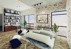 industrial minimalistic modern bedroom study room family room