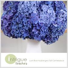 hydrangea centerpiece lush blue hydrangea centerpiece intrigue teaches