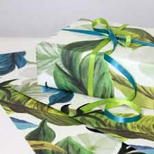 tropical wrapping paper painted floral tropical wrapping paper 3 sheets gift wrapping