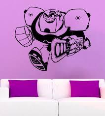 online get cheap wall stickers teen rooms aliexpress cyborg wall sticker teen titans decal vinyl cartoon art nursery kids room mural home interior decor