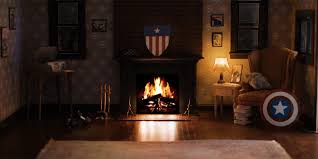 marvel fireplace videos invite you into the avengers u0027 cozy homes