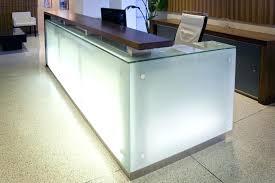 Glass Reception Desk Glass Reception Desk Frosted Design Interque Co