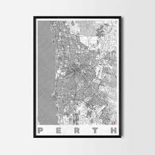 Home Decor Shops Perth Perth Gift Map Art Prints And Posters Home Decor Gifts