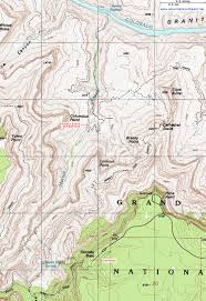 Oregon Topographic Map by Topographic Map Of The Hermit Trail Grand Canyon National Park