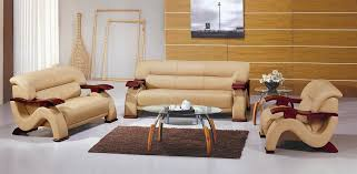 2033 contemporary bonded leather sofa set in beige color