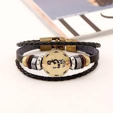 leather bracelet images Zodiac leather bracelet jpg