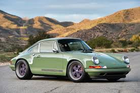 purple porsche 911 photo gallery porsche 911 reimagined by singer in green and