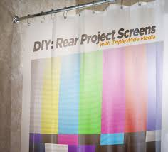 Design Your Own Curtains How To Make Your Own Video Screen From A Shower Curtain