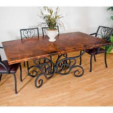 traditional wrought iron alexander dining table 42in x 72in