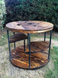 outdoor tables made out of wooden wire spools 71 best spools images on pinterest cable reel table furniture