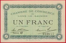 chambre de commerce lons le saunier lons le saunier 1 franc remboursement 1925 fdcollector