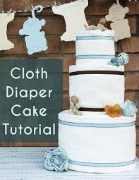 Cloth Diaper Cake Tutorial With Video The Eco Friendly Family