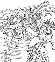 coloriage combat entre optimus et mégatron coloriages à