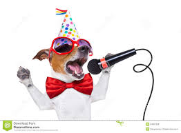 singing happy birthday happy birthday dog singing stock photo image of 54087328