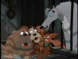 crying pound lady tramp scene