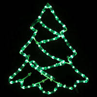 Christmas Rope Light Tree by Animated Merry Christmas Rope Lights Silhouette Outdoor Garden