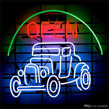 open car garage neon sign custom store display beer bar pub club open car garage neon sign custom store display beer bar pub club led light signs shop decorate real glass tube bulbs 17x14 decorate signage signboard online
