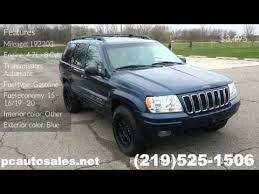 2001 jeep grand laredo gas mileage 2001 blue jeep grand limited merrillville in 46410