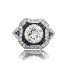 estate engagement rings 1 67ct estate and sapphire engagement ring