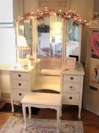 Vanity Desks White Vanity Table With Mirror And Bench Foter