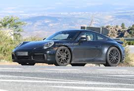 miami blue porsche turbo s 2019 porsche 911 992 interior spied shows new steering wheel