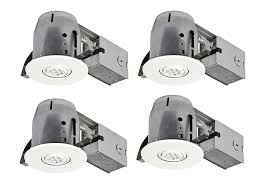 4 inch ic rated recessed lighting remodel amazon com globe electric 4 led ic rated swivel spotlight recessed