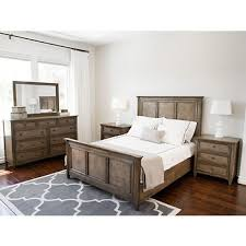 Naples Bedroom Furniture by Abbyson Living Naples 5 Pc Queen Size Bedroom Set Weathered Oak