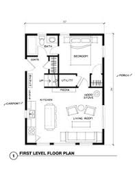 floor plans for a small house 20x30 guest house plans pinteres