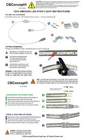 How To Cut Led Strip Lights by Cbconcept Ul Listed Blue Dimmable Super Bright Smd5050 120v