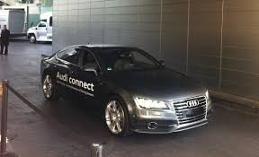 audi a7 self driving we a audi a7 drive away and park all by itself with no