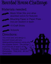 Challenge Directions Stem Education For Haunted House Engineering Challenge