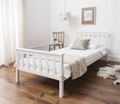Single Frame Beds Single Bed In White 3ft Single Bed Wooden Frame White Ebay